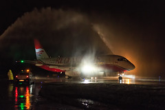 Red Wings SSJ-100 (denlazarev) Tags: sky water rain night clouds plane canon airplane lights fly photo airport russia outdoor moscow aircraft aviation air jet apron airline vehicle runway spotting dme airliner rostovondon lightroom redwings   domodedovo urrr  sukhoisuperjet100 ssj100  su95 95 ra89002 100 100