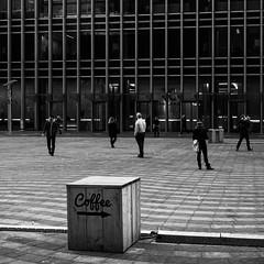 london-3-141215 (Snowpetrel Photography) Tags: winter england blackandwhite london monochrome unitedkingdom streetphotography cityscapes canarywharf modernarchitecture urbanlandscapes olympusm1240mmf28 olympusem5markii
