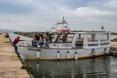 Sicily - Tight Turn To Mozia (JimP (in Sarnia)) Tags: italy water taxi sicily marsala mozia