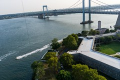 Kite Above Maritime Industry Museum at Fort Schuyler (Wind Watcher) Tags: kite ny industry museum point fort levitation delta maritime schuyler kap throgs windwatcher