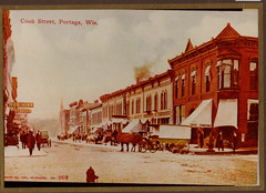 Cook Street Business Block, Color Postcard