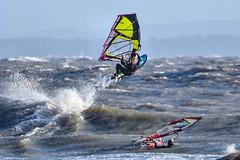 PC311649-Edit (Brian Wadie Photographer) Tags: gulls oystercatcher windsurfing kiting em1 goodlight 14xtc avonbeach canon70300lis hemgistburyhead