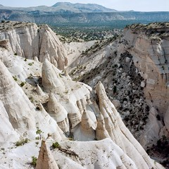 New Mexico on Film: Tent Rocks [6] (jwbeatty) Tags: 120 6x6 analog carlzeissplanart80mmf28 film filmisnotdead hasselblad500cm ishootfilm kodak landscape mediumformat nature newmexico photoaday portra160 project365 rockformations tentrocksnationalmonument