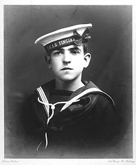 Photographic portrait of a young sailor from HMAS TINGIRA possibly Boy Haynes (Australian National Maritime Museum on The Commons) Tags: hmastingira sailors bwphotograph boyhaynes nsssobraon sydneyharbour rosebay berrysbay
