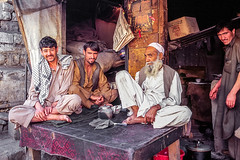 Men in a relaxed mood, Gilgit, Pakistan (inchiki tour) Tags: travel photo film pakistan     people pakistani  gilgit