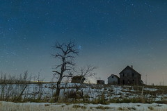 The Lake House (gerrypocha) Tags: lake derelict abandoned lost night sky snow canada prairie
