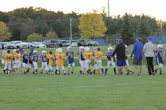 1471 (bubbaonthenet) Tags: 09292016 game stma community 4th grade youth football team 2 5 education tackle 4 blue vs 3 gold