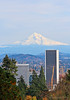 Mt Hood and PDX (EighteenPercentGray) Tags: canon canonef24105mmf4lisusm canonef70200mmf40lusm portland oregon mt hood view nature downtown pdx