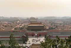 Forbidden City view from Jianshan Hill (Rambo2100) Tags: beijing peking jianshanhill yongle rambo2100 china travel forbiddencity view smog cypress trees hutong drum bell tower unesco worldheritage