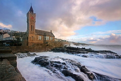 Christmas Eve at Porthleven (Andrew Hocking Photography) Tags: porthleven kernow cornwall seaside church waves water coast coastal seafront winter christmas eve clouds sky sea