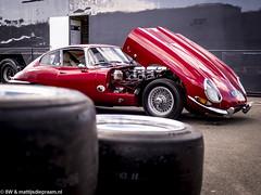 2016 Donington Park test: Jaguar E-type (8w6thgear) Tags: 2016 doningtonpark test jaguar etype sportscar paddock