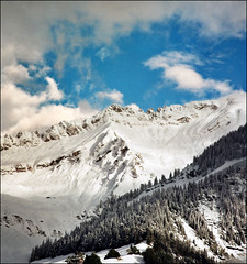 Heaven and earth (Katarina 2353) Tags: landscape winter alps mountain katarina2353 katarinastefanovic film nikon france chamonix