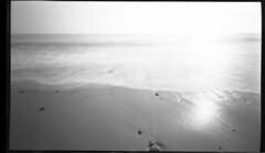 Walberswick : tb711/Analogue Pinhole. 2016 (Russell Moreton) Tags: walberswick pinhole film beach light water luminosity holga sun