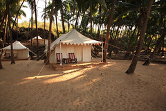 Luxury Tent On The Beach India (jewelcse) Tags: beach camping cola dusk getaway goa green india light low luxury nature outdoor palm paradise tent tranquil travel tree