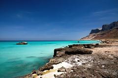 North coast cliffs (Di Hof) (indomitablemachine) Tags: blue cliffs coast socotra water yemen hadhramautgovernorate ye