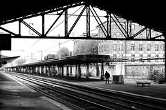 By leaving the station (pascalcolin1) Tags: paris13 austerlitz gare station quais homme man perspective photoderue streetview urbanarte noiretblanc blackandwhite photopascalcolin