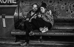 Two lovers on a bench (zilverbat.) Tags: mensen streetphotography image streetcandid streetshot straatfotografie urbanlife thehague grotemarktstraat straatfotograaf streetlife urban timelife town streetscene scenery people portrait portret photography peopleinthecity avond avondfotografie netherlands nightphotography nightshot night candidphotography candid canon thenetherlands denhaag dutch dutchholland bench binnenstad hipster boy girl fashion nikes shoes bank lovers love steel staal