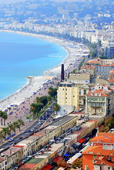 The Promenade des Anglais  seen from Colline de Chateau (Castle Hill), Nice. (Roly-sisaphus) Tags: nice southoffrance cotedazure frenchriviera nikond802016dsc1065
