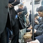 morning commute in Tokyo, mobile phones thumbnail