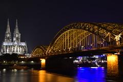 Köln Dom Nachtaufnahme unbearbeited