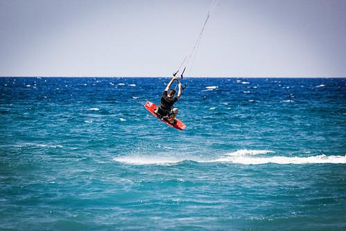 Kitesurfing in Theologos