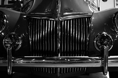 . (_mattdalton_) Tags: grill vintage car museum lights ford deluxe old nikon nikkor clean symmetry