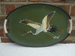 Kitsch 1950's Japanese ? Drinks Serving Tray Mid Century Modern (beetle2001cybergreen) Tags: kitsch 1950s japanese drinks serving tray mid century modern