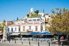 Poros - Clock Tower Overlooking Harbourside (Le Monde1) Tags: poros greece greek island lemonde1 nikon d800e saronicislands sfairia kalavria clock tower harbourside