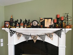 Courtney H. Photo - Halloween with Johanna Parker Black Cat (Johanna Parker Design) Tags: johannaparker halloween collection mantel blackcat giveaway raffle decorations
