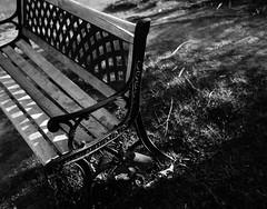 20060527_IMG_0003_trm_mod (NAMARA EXPRESS) Tags: landscape bench wooden mountain north fine outdoor monochrome blackandwhite araiyama sapporo hokkaido japan film fujifilm velvia 100f plaubel makina67 makina nikkor 80mm f28 canon canoscan 9000f scanner scan namaraexp