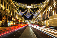 Regent Street Christmas Lights, London, United Kingdom (topwh) Tags: regent street regentstreet london ldn xmas christmas lights christmaslights xmaslights lighttrail united kingdom unitedkingdom uk greatbritain great britain gb angel angels central centrallondon light trail