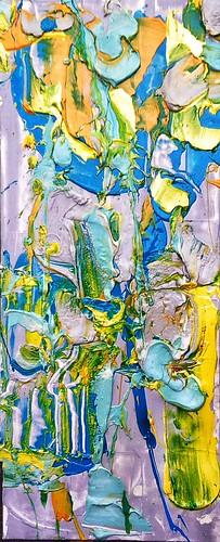 #josephallenart #oct2016 19x8 #acryliconpaper #abstractpainting