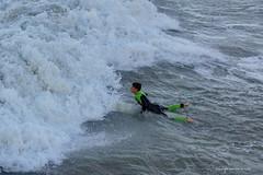 Wavesurfing (DirkVandeVelde back , and catching up) Tags: europa europ europe belgie belgium belgica belgique buiten outdoor sea zee mer meer surfing blankenberge westvlaanderen sony