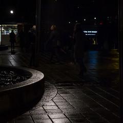 Oslo in November (Mona_Oslo) Tags: streetshot nightshot wetpavement light dusk spikersuppa karljohansgate monajohansson nationaltheatret