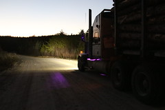 Workin' in the dark (jr-transport) Tags: kenwort w900 w900l manion llights led logging