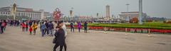Tiananmen Square-0937 (kasiahalka (Kasia Halka)) Tags: 109acres 2016 beijing china citysquare gateofheavenlypeace greathallofthepeople mausoleumofmaozedong monumenttothepeoplesheroes nationalmuseumofchina tiananmensquare