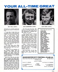 Manchester City vs Stoke City - 1974 - Page 3 (The Sky Strikers) Tags: manchester city stoke maine road 50 years football league first division match magazine 10p