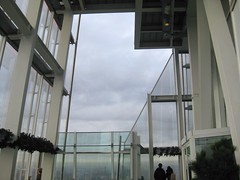 Open deck details of Shard #6 (streetr's_flickr) Tags: theshardoflondon highrise panorama tallbuildings structures architecture london city steelwork glass
