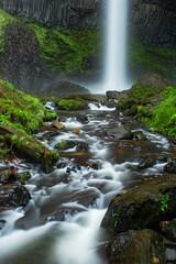 Falls (M3tr1c) Tags: latourell falls waterfall water flow river creek oregon columbia gorge lichen moss yellow rocks