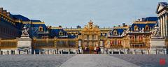 Les ors du Château de Versailles, désert un lundi... (mamnic47 - Over 7 millions views.Thks!) Tags: versailles chateaudeversailles lesgens yvelines img1516 pnoramique courdhonneur grilledhonneur
