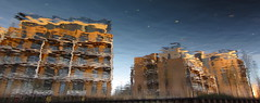 Building Sunsets (andressolo) Tags: reflection reflect reflected reflejos reflections reflejo ripples canal water agua london hackney houses homes building buildings distorted distortion distortions