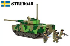 Stridsfordon 9040 (Matthew McCall) Tags: lego tank ifv apc military army war sweden swedish cv90 strf90 moc