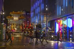 Rainy Streets of London (Danno KaBlammo) Tags: europe danny bourque 2016 uk british england london britain gb great united kingdom brits english cyberpunk rain wet reflections night neon