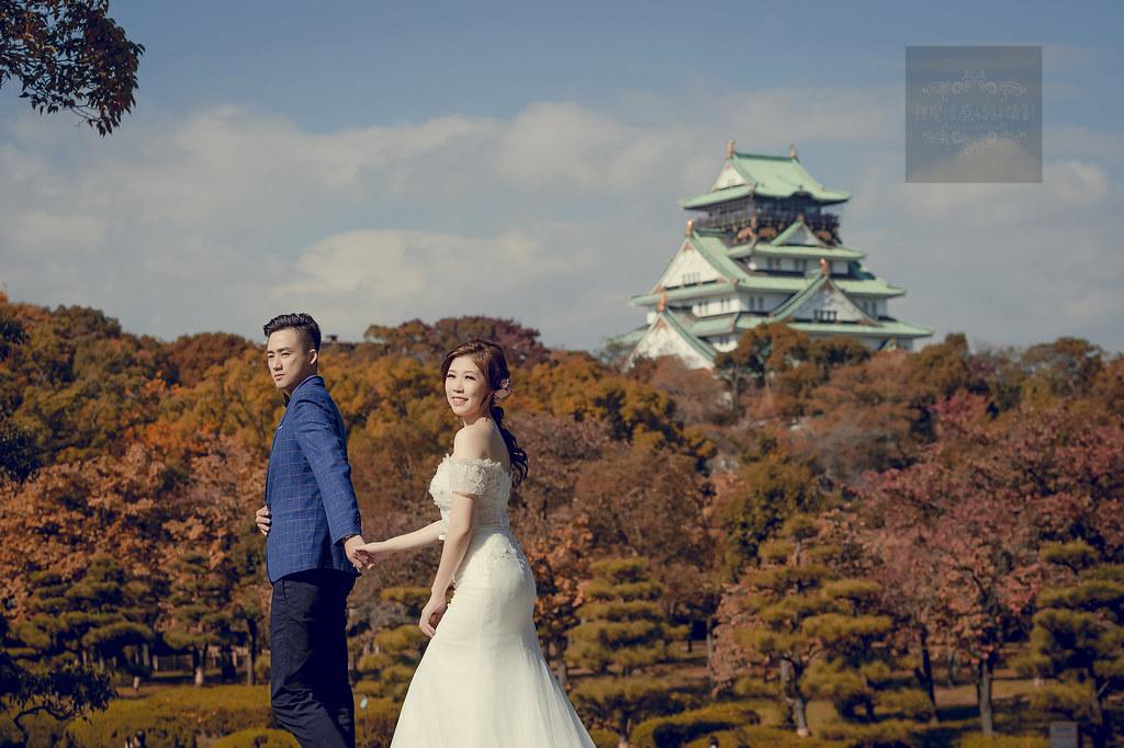 海外婚紗,日本大阪城天守閣,婚紗攝影,日本婚紗,大阪城天守閣,自助婚紗,日本拍婚紗推薦,天守閣婚紗,大阪城天守閣攝影,海外攝影