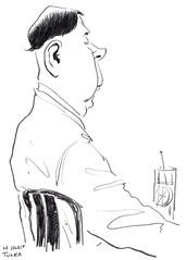Café Le Sélect 3 (Rick Tulka) Tags: paris café caricature pencil drawing lesélect sketchbook