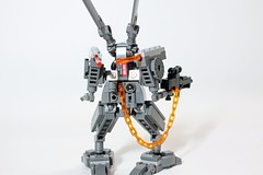 Thumper Electrics (John Moffatt) Tags: rabbit bunny death gun lego chain suit glowing missile stomp mecha thumper mech exo hardsuit