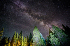 KevLev-12 (KevLeverenz) Tags: longexposure camping trees red canon way stars flash galaxy milky 6d
