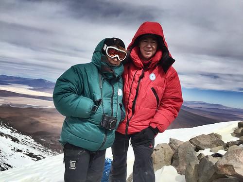 Au sommet de l'Aucanquilcha (Chili) - 6176 m