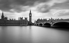 Parliament (Robgreen13) Tags: city uk longexposure bw london monochrome westminster cityscape housesofparliament bigben government filters riverthames westminsterbridge stopper