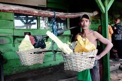 Weighing the Sulfur Stones (Ardy Hadinata Kurniawan) Tags: canon indonesia local yield sulfur weigh miner ijen kawah
